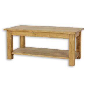 Drewniany stolik, ława MES14