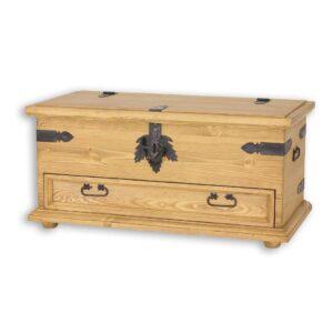 Drewniany kufer, skrzynia COS15
