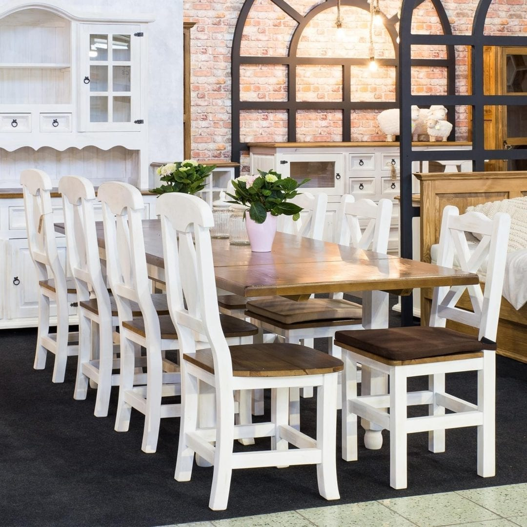 Drewniany stół MES01 BIANCO